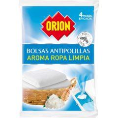 ORION BOLAS ANTIPOLILLA PERFUME ROPA LIMPIA 20 BOLAS