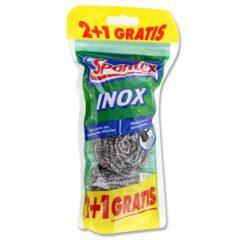 SPONTEX ESTROPAJO INOXIDABLE PACK 3
