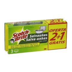 SCOTCH BRITTE ESTROPAJO SALVAUÑAS 2+1