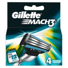 GILLETTE MATCH-3 CARGADOR 4 UDS