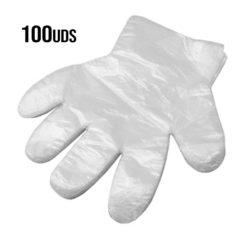 GUANTES DESECHABLES DE PLASTICO 100 UDS