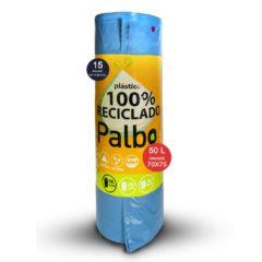 PALBO BOLSA DE BASURA 50 LITROS 15 UNIDADES