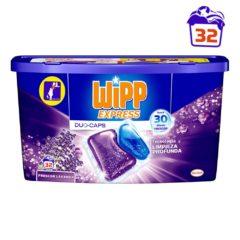 WIPP DETERGENTE CAPSULAS 32 UNIDADES FRESCOR LAVANDA